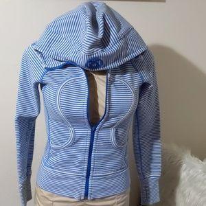 Lululemon Athletica striped scuba hoodie jacket